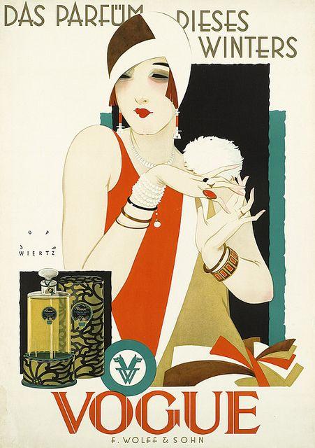 Histoire du parfum : une page de pub de parfum datant de 1927