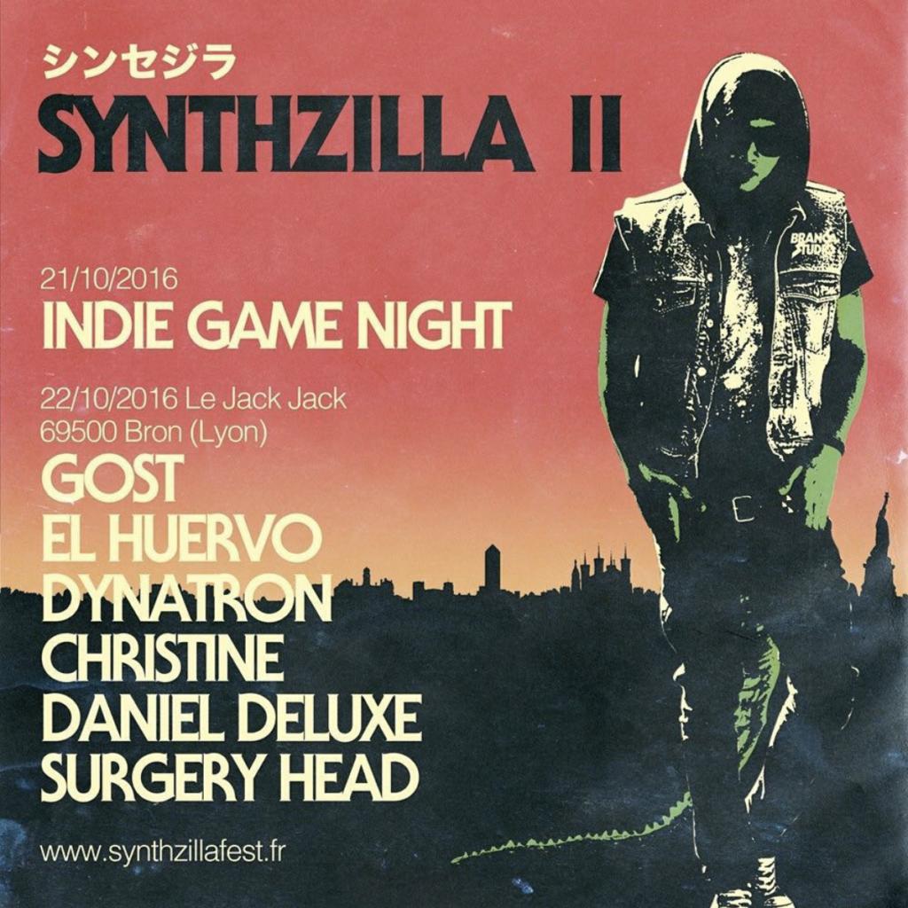 Affiche du festival Synthzilla, fondé par Pauline Manouvrier AKA Pauline Putrescine