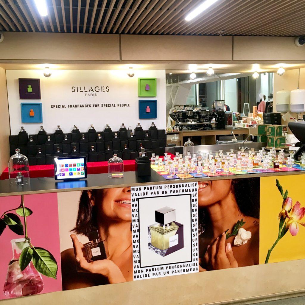 Pop up Sillages Paris à l'Exception : créer son parfum personnalisé sans rendez-vous.