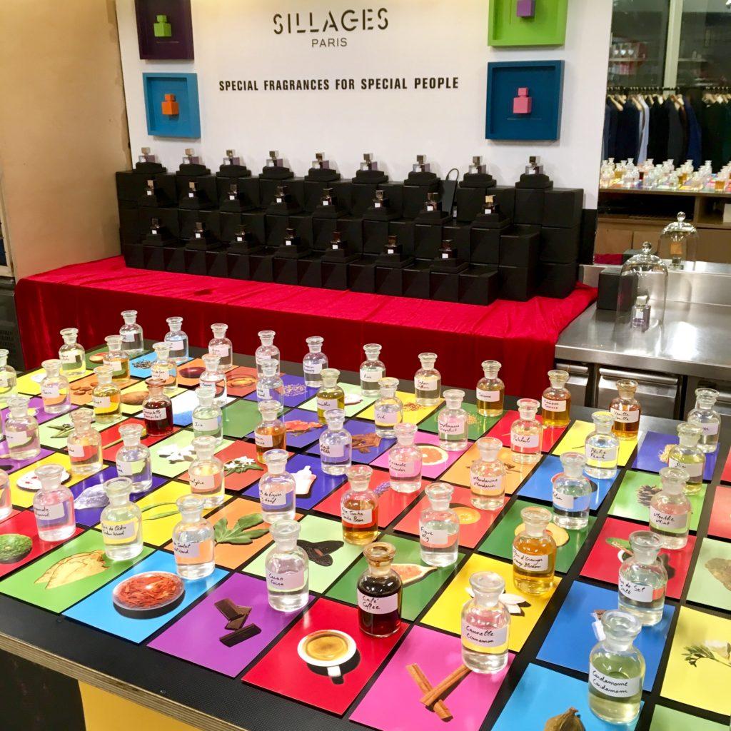 Nos ingrédients naturels et clean Sillages Paris au pop up store l'exception