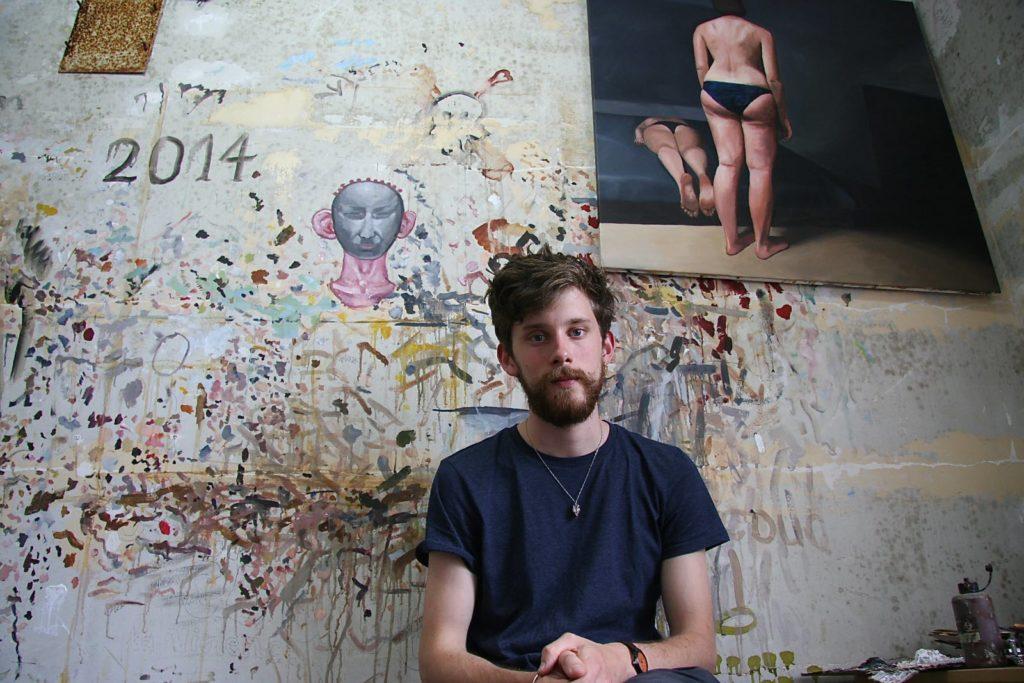 François Malingrëy dans son premier atelier-squat à Saint Ouen